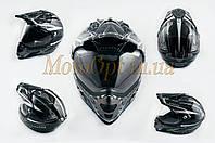 Шлем кроссовый   (mod:MX433) (с визором, size:XXL, черно-серый с узором)   LS-2