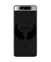 Чехол для телефона Zorrov на  Samsung Galaxy A80 Wings Black Matte