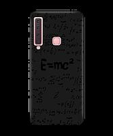Чехол для телефона Zorrov на  Samsung Galaxy A9 2018 Black Einstein Black Matte