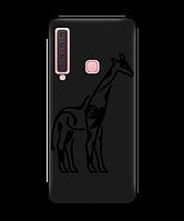 Чехол для телефона Zorrov на  Samsung Galaxy A9 2018 Giraffe Black Matte