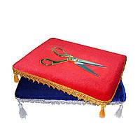 Ножницы для разрезания ленты и подушка-поднос