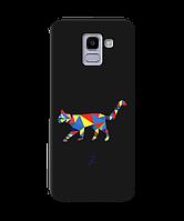 Чехол для телефона Zorrov на  Samsung Galaxy J6 2018 Cat Black Matte