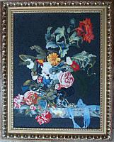 """Копия картины Виллема Ван Алста """"Цветы в серебряной вазе"""", 1663 год"""