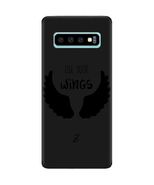 Чехол для телефона Zorrov на  Samsung Galaxy S10 Plus Wings Black Matte