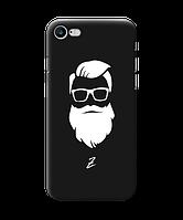 Чехол для телефона Zorrov на  Apple Iphone 7 Beard Black Matte