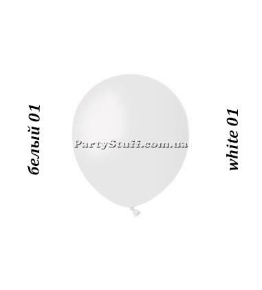 Воздушные шарики Gemar А50 пастель БЕЛЫЙ