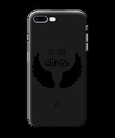 Чехол для телефона Zorrov на  Apple Iphone 8 Plus Wings Black Matte