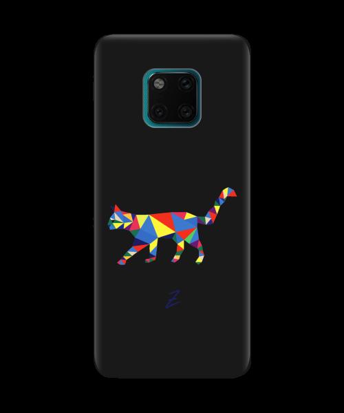 Чехол для телефона Zorrov на  Huawei Mate 20 Pro Cat Black Matte