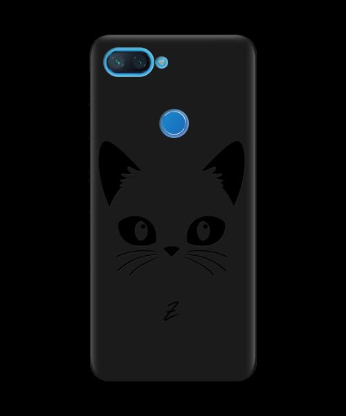 Чехол для телефона Zorrov на  Xiaomi Mi 8 Lite Cat Black Black Matte