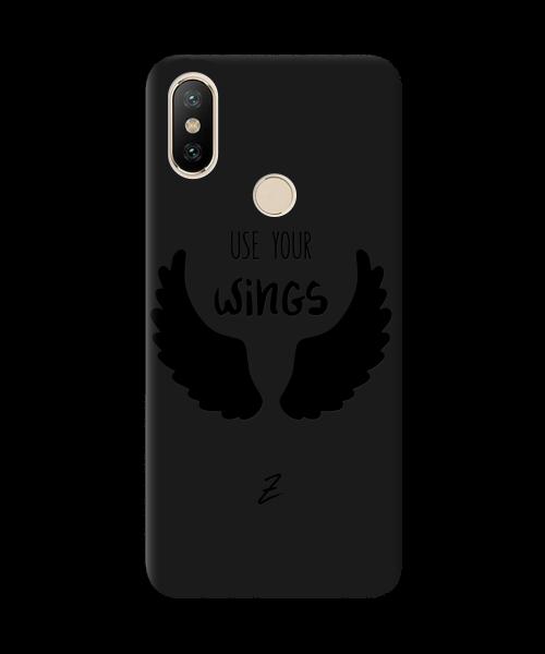 Чехол для телефона Zorrov на  Xiaomi Mi A2 (Mi 6X) Wings Black Matte