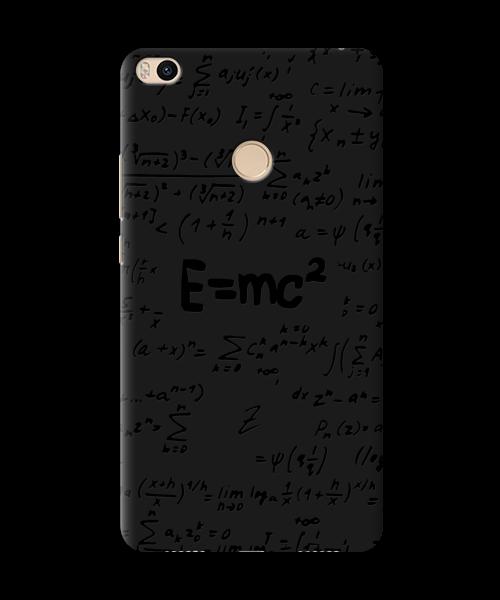 Чехол для телефона Zorrov на  Xiaomi Mi Max 2 Black Einstein Black Matte