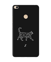 Чехол для телефона Zorrov на  Xiaomi Mi Max 2 White cat Black Matte