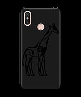 Чехол для телефона Zorrov на  Xiaomi MI Max 3 Giraffe Black Matte