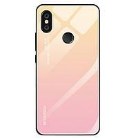 Чехол Gradient для Xiaomi Mi A2 Lite / Redmi 6 Pro бампер накладка Beige-Pink, фото 1