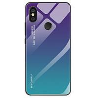 Чехол Gradient для Xiaomi Mi A2 Lite / Redmi 6 Pro бампер накладка Purple-Blue, фото 1