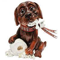 Фигурка-статуэтка собачка «Труффи» коллекционная из керамики Англия, h-11 см 340-1075