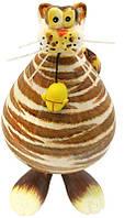 Фигурка на пружинке «Кот с мишкой» h-13 см. 367-3001