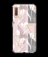Чехол для телефона Zorrov на  Samsung Galaxy A7 2018 White tulips