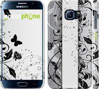 """Чехол на Samsung Galaxy S6 G920 Цветочный узор 3 """"1582c-80"""""""