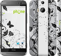 "Чехол на HTC One M8 Цветочный узор 3 ""1582c-30"""