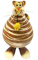 Фигурка на пружинке «Кот с мишкой» h-26 см. 367-1001
