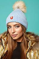 Шапка Domenica Вязаная зимняя шапка с бубоном SKU_V 67