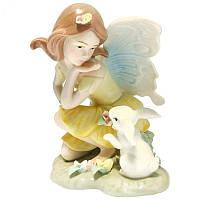 Фигурка статуэтка фарфоровая колекционная «Эльф с зайчиком» h-13 см. 350-3005