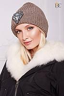 Шапка Domenica Зимняя вязаная шапка с модным декором SKU_V 66