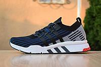Мужские кроссовки Adidas Equipment, текстиль, пена, синие с черным