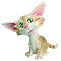 Фигурка-статуэтка кошка «Сьюзи» коллекционная из керамики Англия, h-13 см 340-1042
