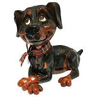 Фигурка-статуэтка собачка доберман «Дейзи» коллекционная из керамики Англия, h-11 см 340-1049