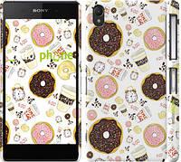"Чехол на Sony Xperia Z2 D6502/D6503 Пончики 25 ""2404c-43"""