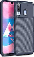 Чехол TOTO Чехол-накладка TOTO TPU Carbon Fiber 1,5mm Case Samsung Galaxy A40s/M30 Dark Blue SKU_F_95700