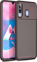 Чехол TOTO Чехол-накладка TOTO TPU Carbon Fiber 1,5mm Case Samsung Galaxy A40s/M30 Coffee SKU_F_95699