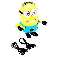 Портативная Аккумуляторная Мини MP3 Колонка FQ-13 c USB и FM Музыкальный Спикер в Виде Миньона