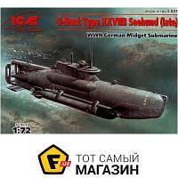 """Модель 1:72 подводные лодки - ICM - Немецкая подводная лодка типа XXVII """"Seehund"""", поздняя (ICMS007) пластмасса"""