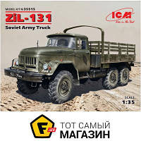 Модель 1:35 грузовики - ICM - Советский армейский грузовой автомобиль ЗиЛ-131 (ICM35515) пластмасса