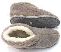 Чуни шерстяные с подошвой войлочной (коричневые), фото 1