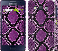 "Чехол на Samsung Galaxy A3 A300H Фиолетовая кожа змеи ""1005c-72"""
