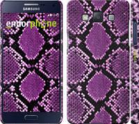 "Чехол на Samsung Galaxy A5 A500H Фиолетовая кожа змеи ""1005c-73"""
