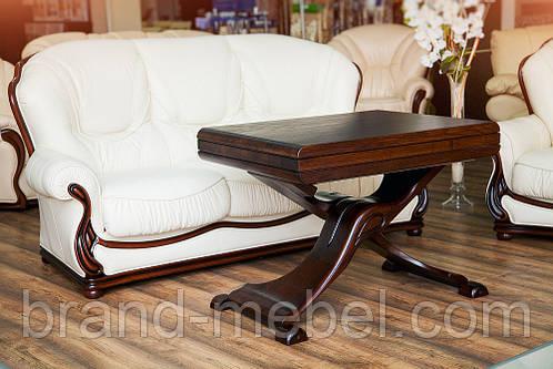 Стол трансформер журнально-обеденный деревянный Магнат