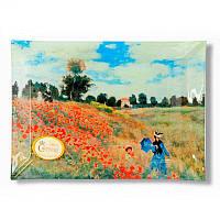 Тарелка стеклянная Клод Моне «Маковое поле», 28х20 см (198-4002)