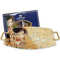 Стелянный поднос Г.Климт «Поцелуй» Carmani, 54х28,5 см (198-7031)