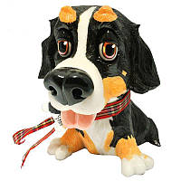 Фигурка-статуэтка собачка бернский зенненхунд «Берни» коллекционная из керамики Англия, h-15,5 см. 340-1014