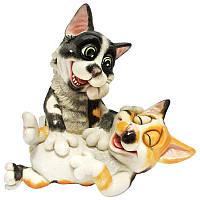 Фигурка-статуэтка пара котят «Алекс и Джойо» коллекционная из керамики, Англия, h-16,5 см 340-1076