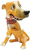 Фигурка-статуэтка собачка «Сизли» коллекционная из керамики Англия, h-12 см 340-1080