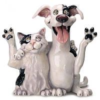 Фигурка-статуэтка друзья «Джек и Джил» коллекционная из керамики Англия, h-22 см 340-1019
