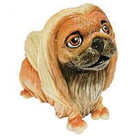 Фигурка-статуэтка коллекционная с керамики, Англия, собачка «Парис», h-10 см 340-1083