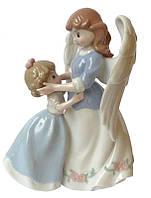 Фигурка статуэтка фарфоровая колекционная «Ангел с ребенком» h-17 см. 350-3038