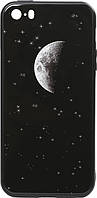 Чехол TOTO Чехол-накладка TOTO Cartoon Print Glass Case Apple iPhone SE/5s/5 Starry Sky SKU_F_92973